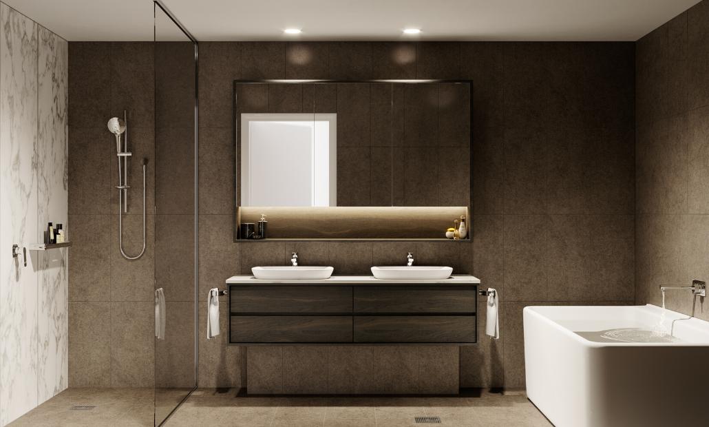 Ascot Green 20708 bathroom dark scheme