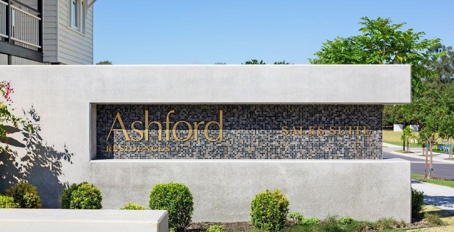 Ashford sales suite signage